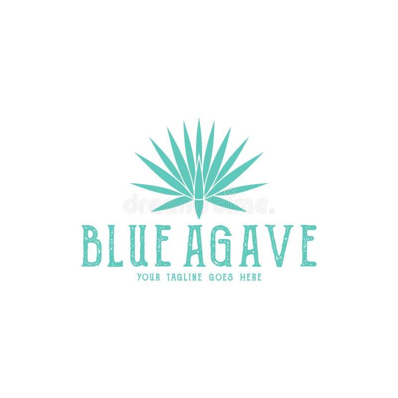 Blauwe Agave embleem vector illustratie