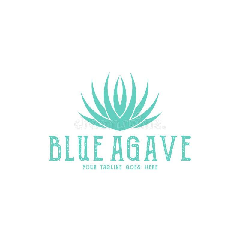 Blauwe Agave Tequilaembleem Ge?soleerde agave op witte achtergrond vector illustratie