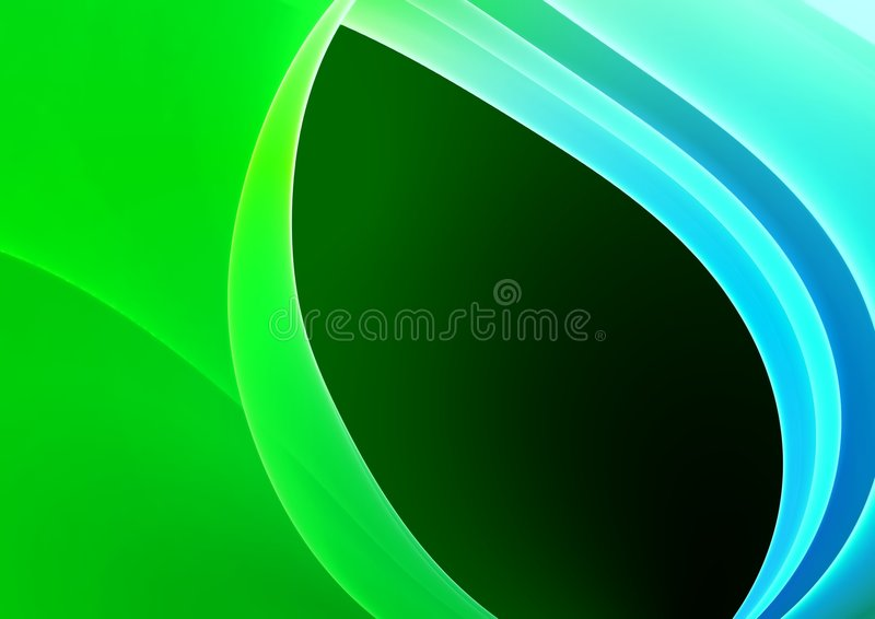 Blauwe & Groene Abstracte achtergrond vector illustratie
