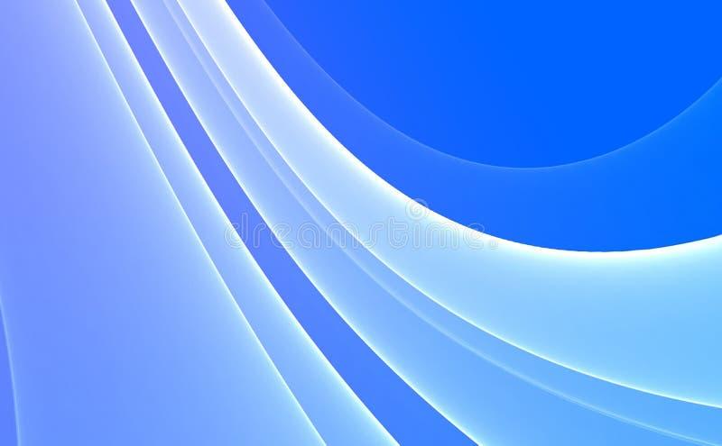 Blauwe & Witte Abstracte achtergrond stock illustratie