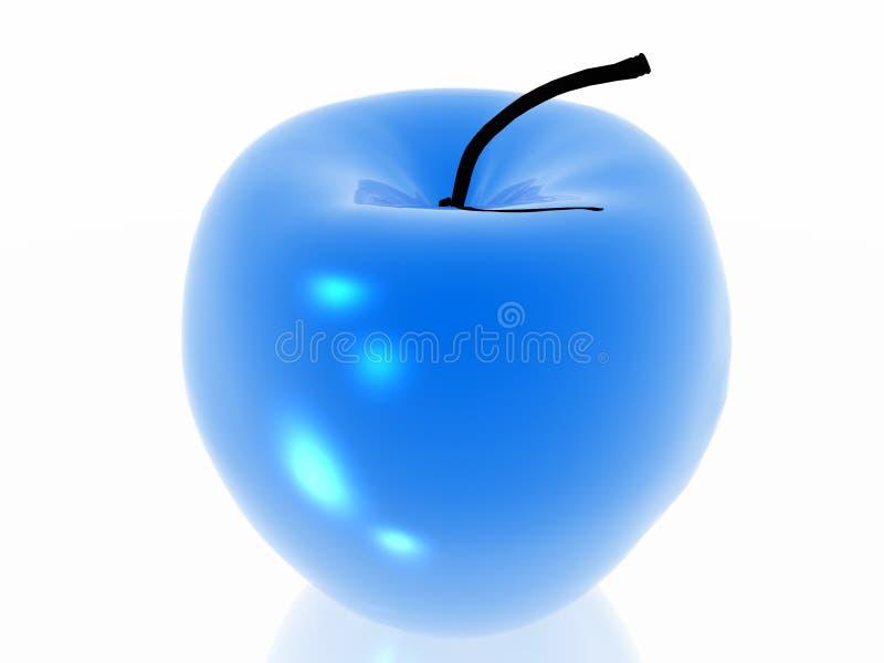 Blauwe appel vector illustratie