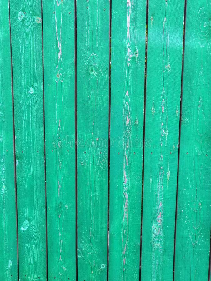 Blauwe aquamarijn groene houten achtergrond - Geschilderde oude houten voorgevel royalty-vrije stock fotografie