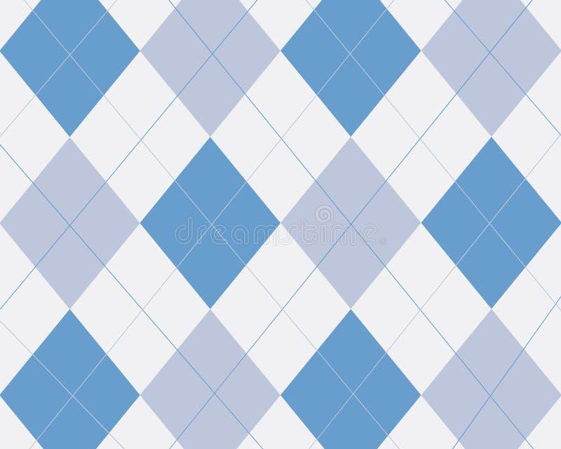 Blauwe argyle stock illustratie