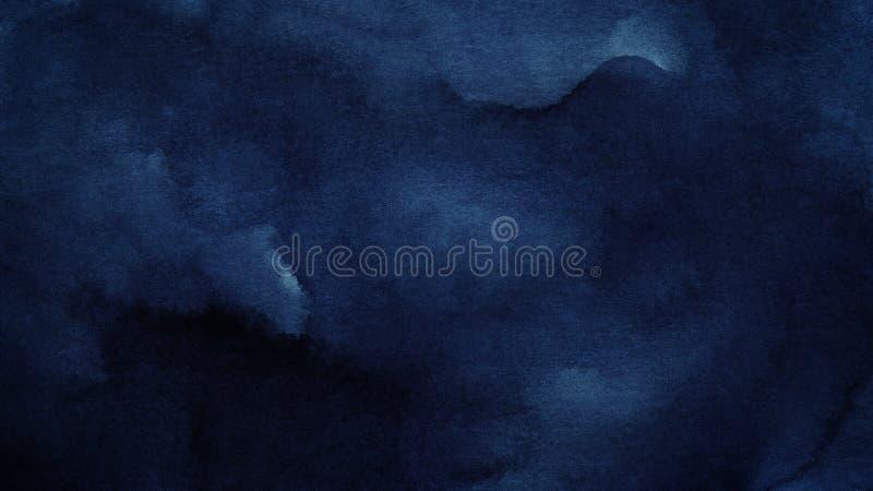 Blauwe azuurblauwe abstracte waterverfachtergrond voor texturen achtergrond en van Webbanners ontwerp stock illustratie