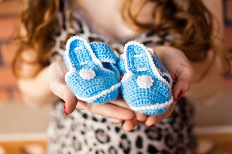 Blauwe babybuiten stock afbeeldingen