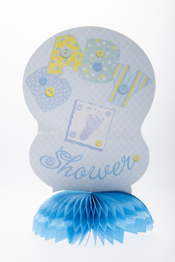 Blauwe babydouche stock fotografie