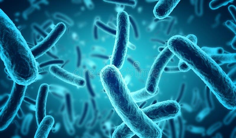Blauwe bacteriën royalty-vrije illustratie
