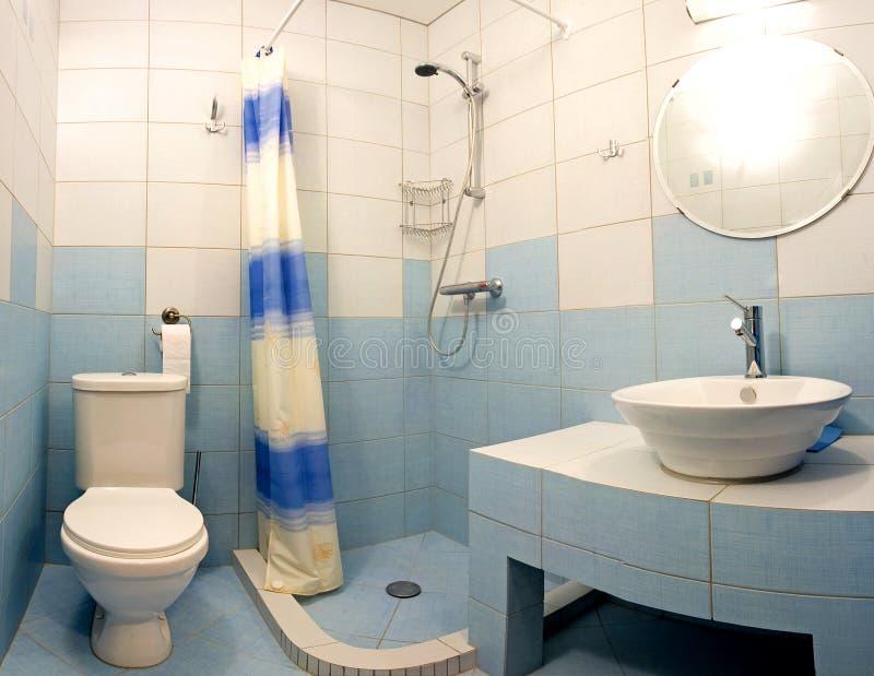 Blauwe badkamers royalty-vrije stock foto's