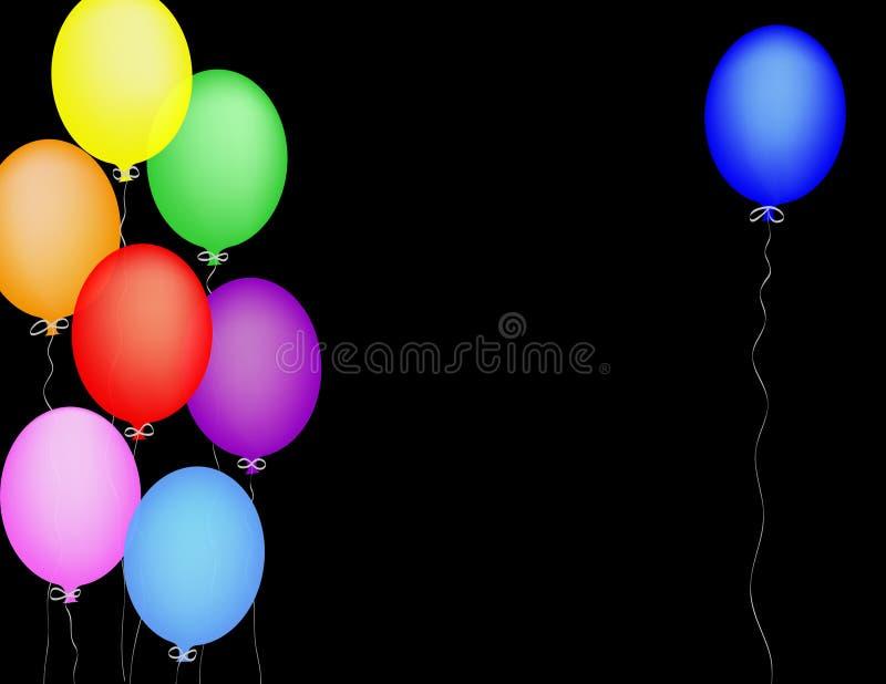 Blauwe Ballon royalty-vrije illustratie