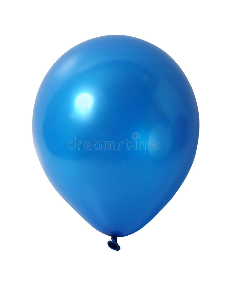 Blauwe ballon met weg royalty-vrije stock fotografie