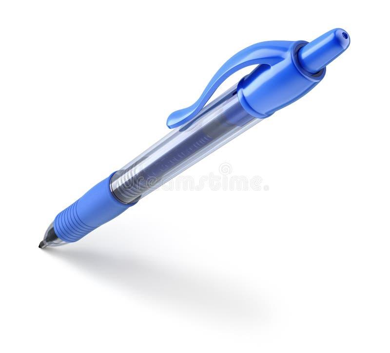Blauwe ballpoint stock illustratie
