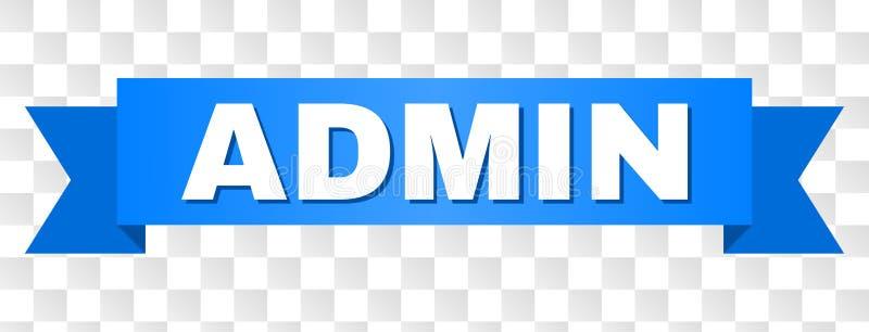 Blauwe Band met ADMIN-Titel stock illustratie