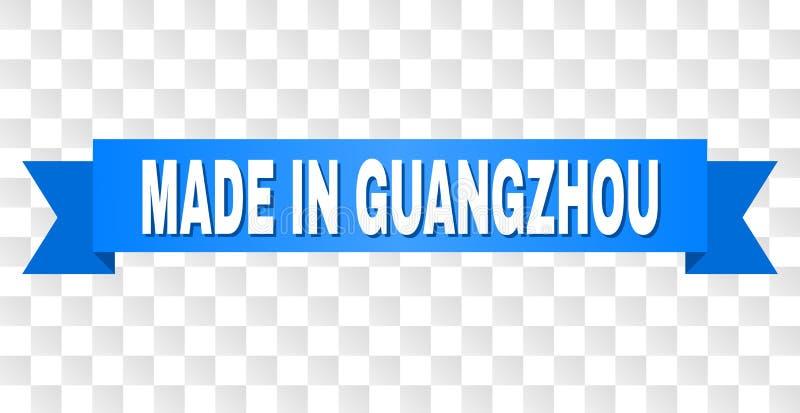 Blauwe Band met GEMAAKT IN GUANGZHOU-Titel stock illustratie