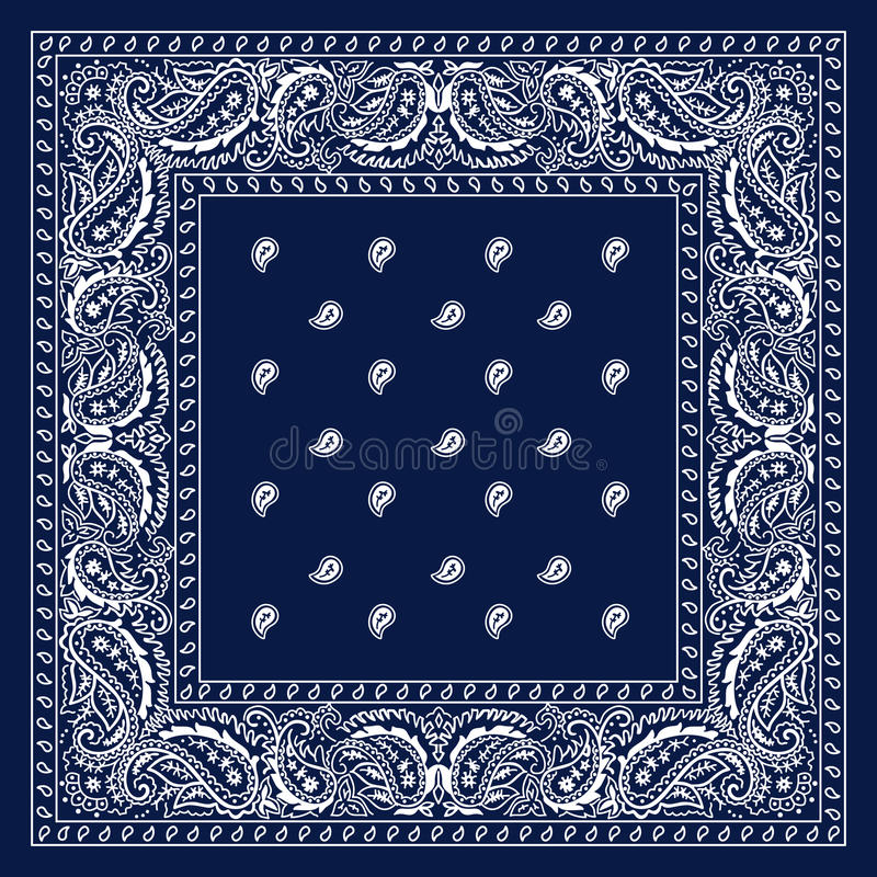 Blauwe Bandana royalty-vrije illustratie