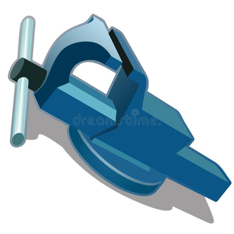 Blauwe bankschroef op een witte achtergrond Vector royalty-vrije illustratie