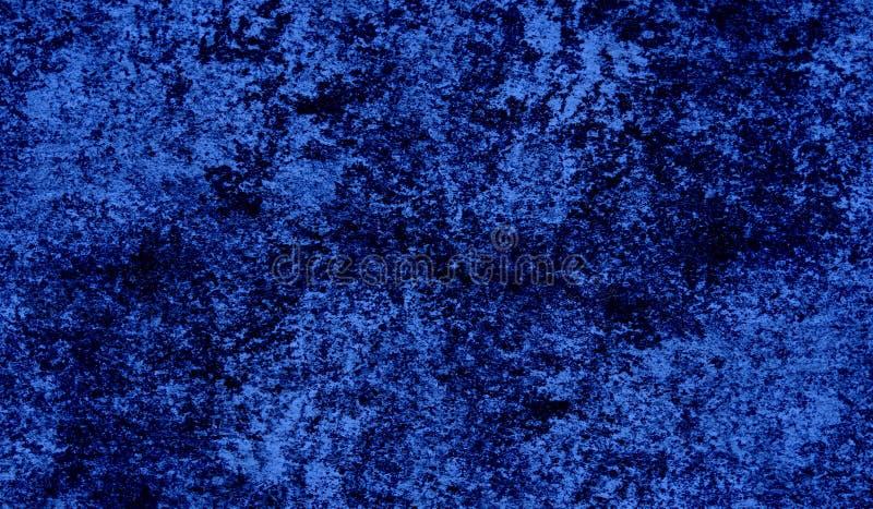 Blauwe Barstende en pellende verf op een oude muur Achtergrond textuur Kan als prentbriefkaar worden gebruikt vector illustratie