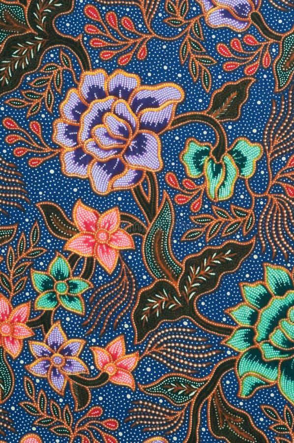 Blauwe Batik royalty-vrije stock afbeelding