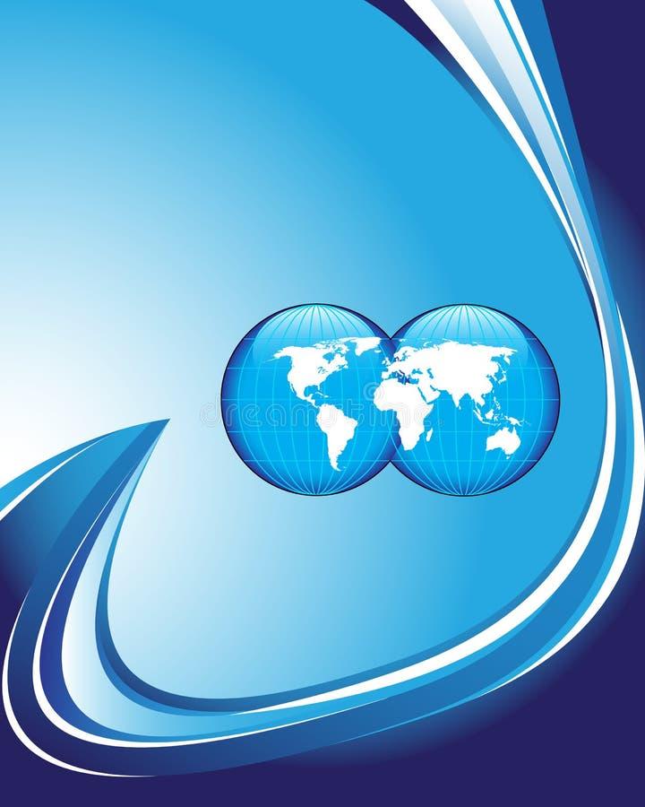 Blauwe bedrijfsachtergrond vector illustratie