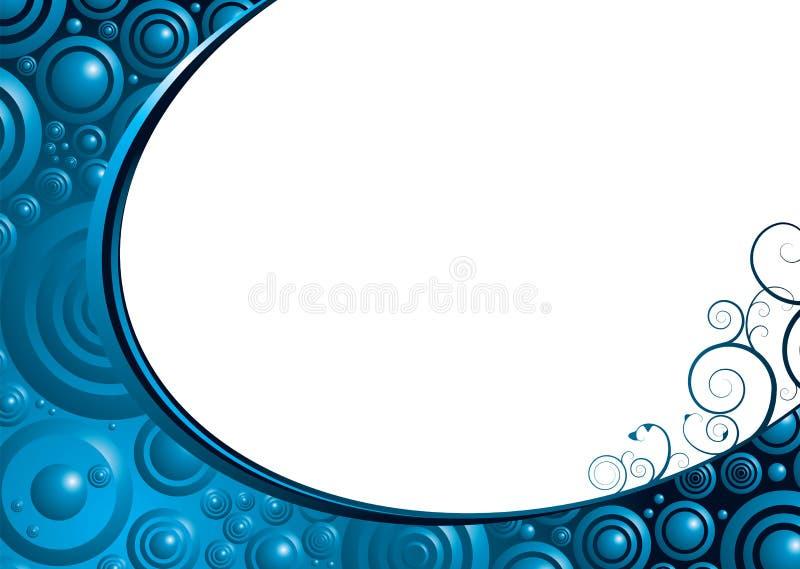 Blauwe bel bloemen stock illustratie