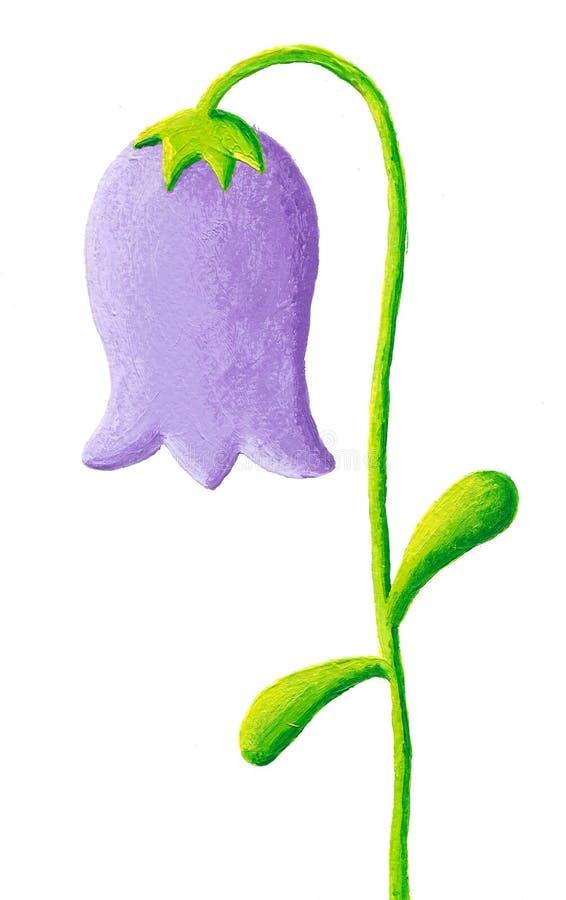 Blauwe bellflower royalty-vrije illustratie