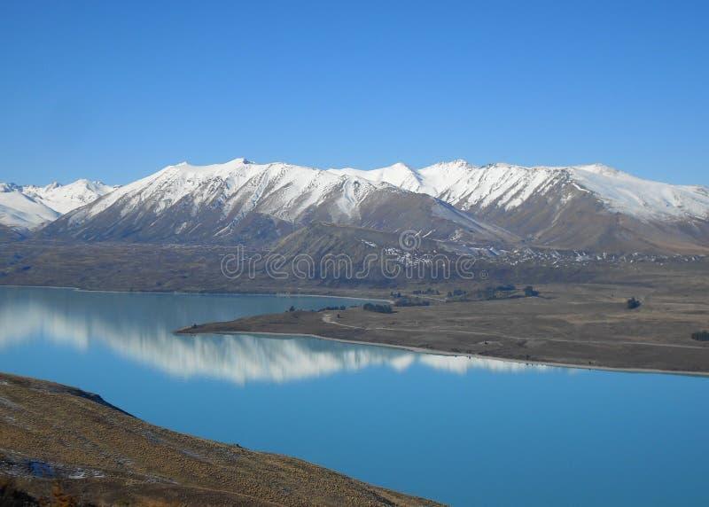 Blauwe Berg 2 van het Meer royalty-vrije stock foto