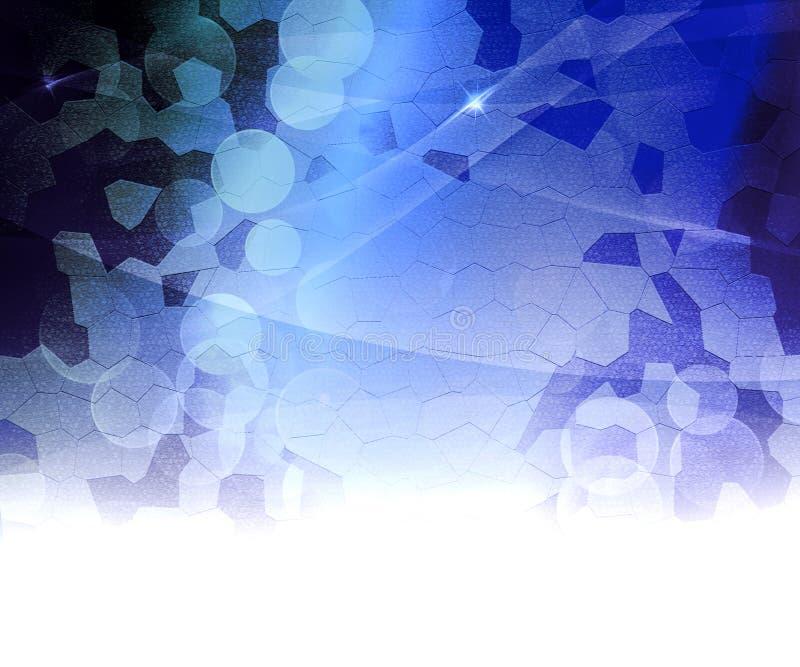 Blauwe Biologische Abstracte Achtergrond stock illustratie