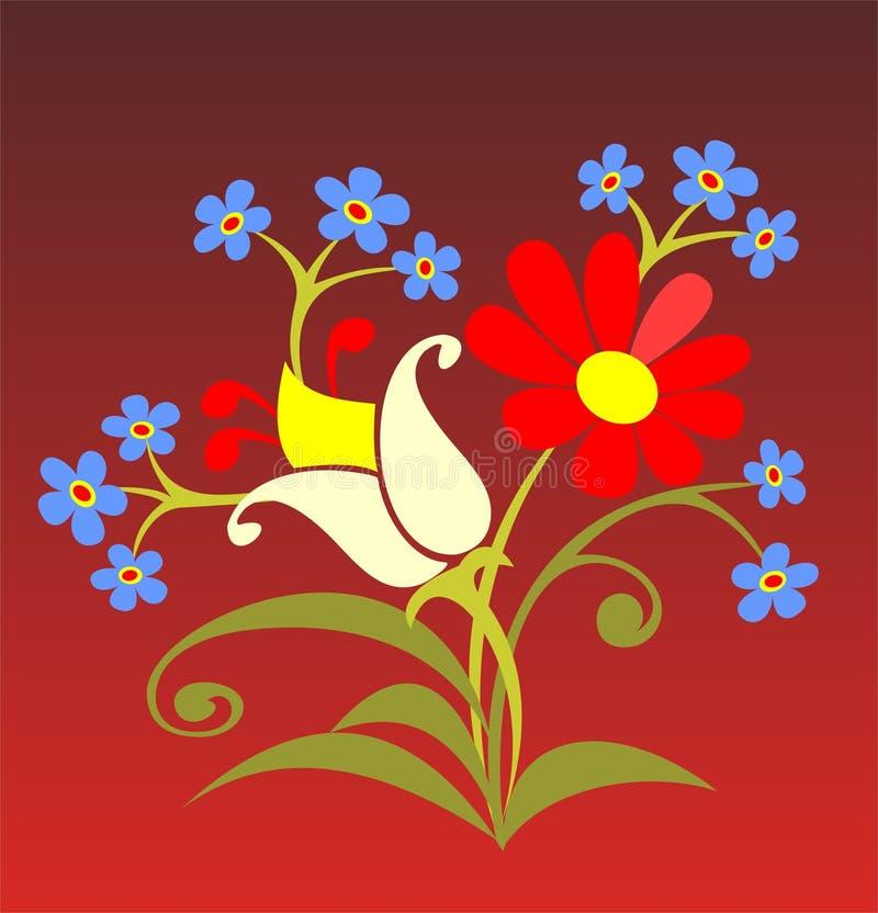Blauwe bloemen vector illustratie