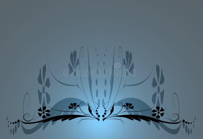 Blauwe bloemenachtergrond royalty-vrije illustratie