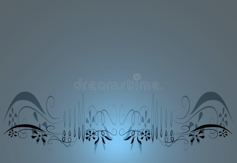 Blauwe bloemenachtergrond vector illustratie