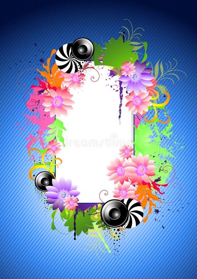 Blauwe BloemenElementen vector illustratie