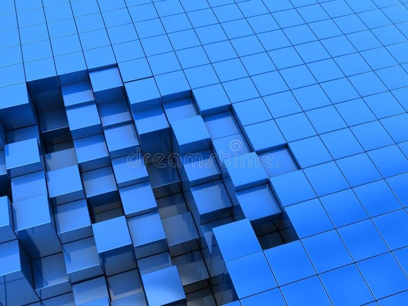 Blauwe blokkenachtergrond vector illustratie