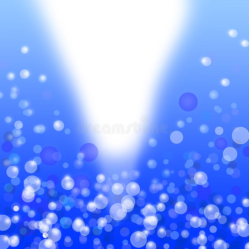 Blauwe bokeh lichte abstracte achtergrond stock illustratie