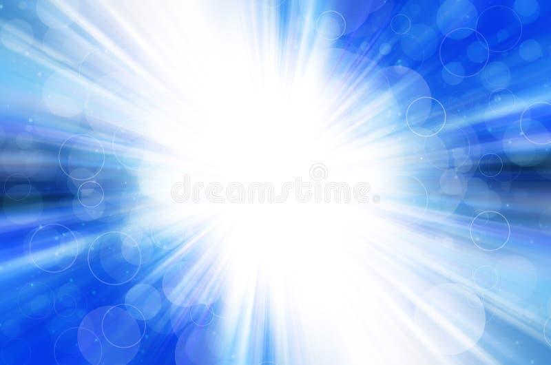 Blauwe bokeh met cirkelachtergrond. royalty-vrije stock afbeelding