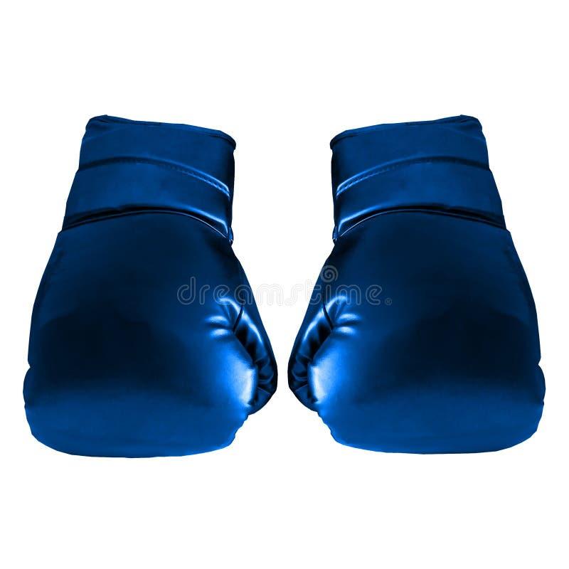 Blauwe bokshandschoenen vector illustratie