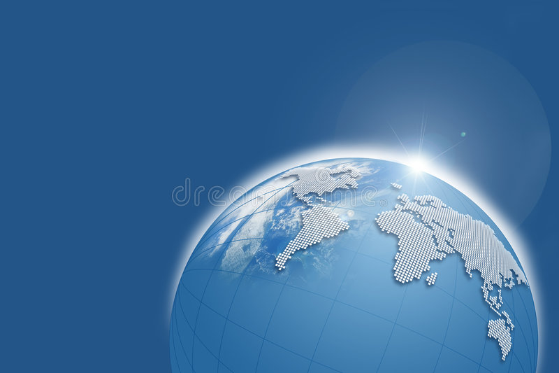 Blauwe Bol stock afbeelding