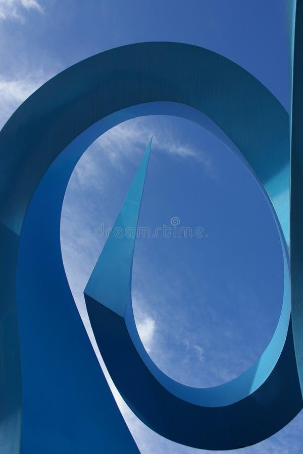 Blauwe boog stock afbeelding