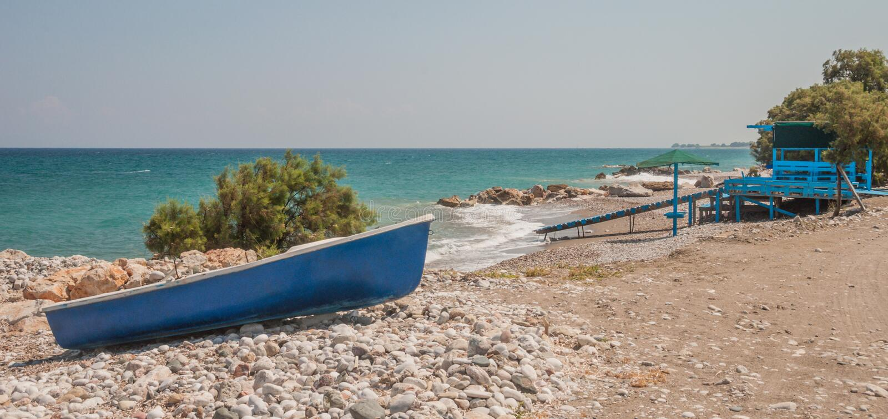 Blauwe boot stock afbeeldingen