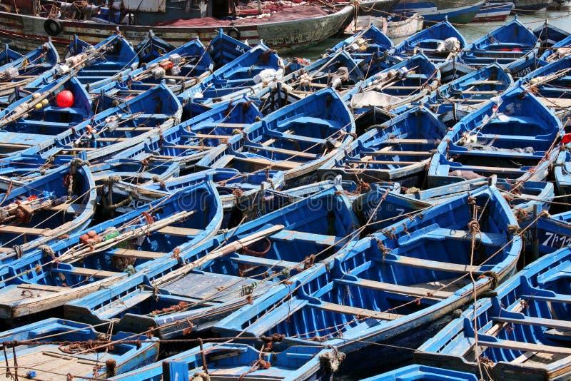 Blauwe boten stock foto's