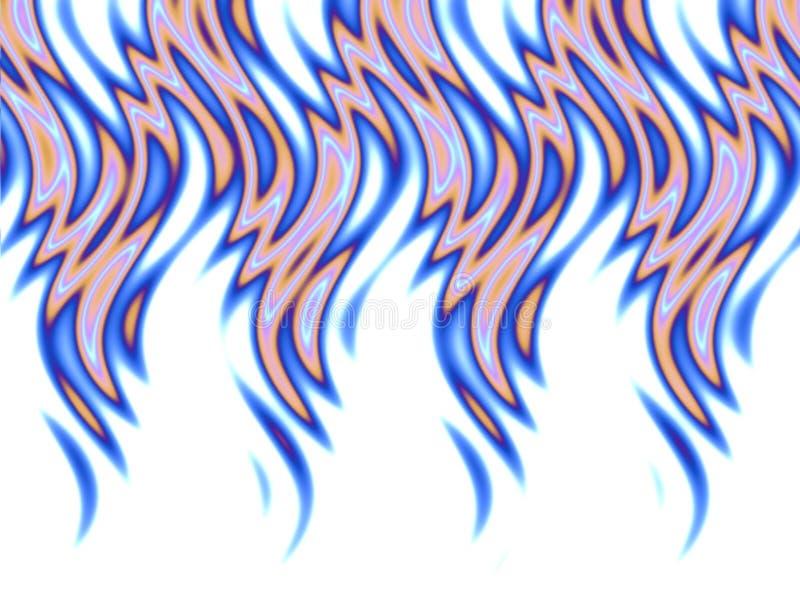 Blauwe brand over wit stock illustratie