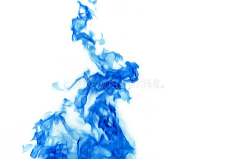 Blauwe brandachtergrond royalty-vrije stock afbeelding