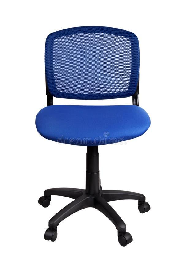 Blauwe bureaustoel royalty-vrije stock afbeelding