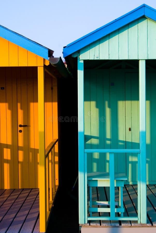 Blauwe Cabina stock afbeeldingen