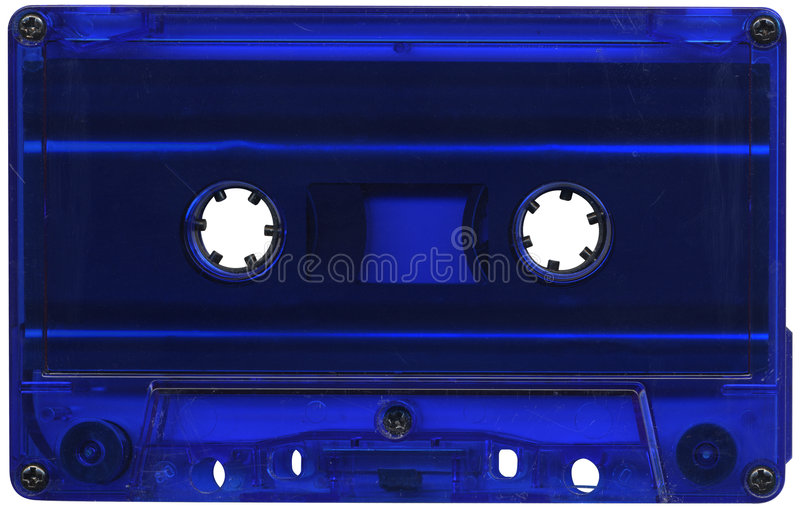 Blauwe cassetteband royalty-vrije stock foto's