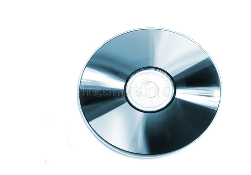 Blauwe CD stock afbeelding