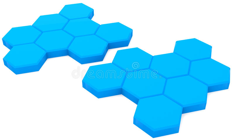 Blauwe cellen royalty-vrije illustratie