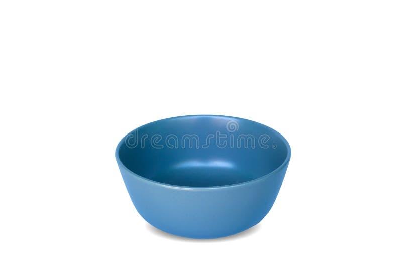 Blauwe ceramische kom stock foto's