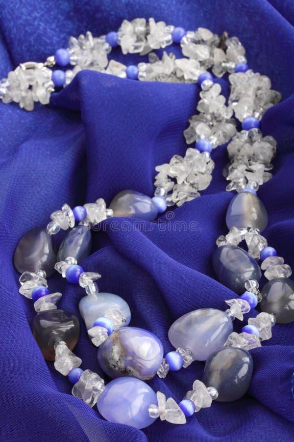 Blauwe chalcedony royalty-vrije stock foto