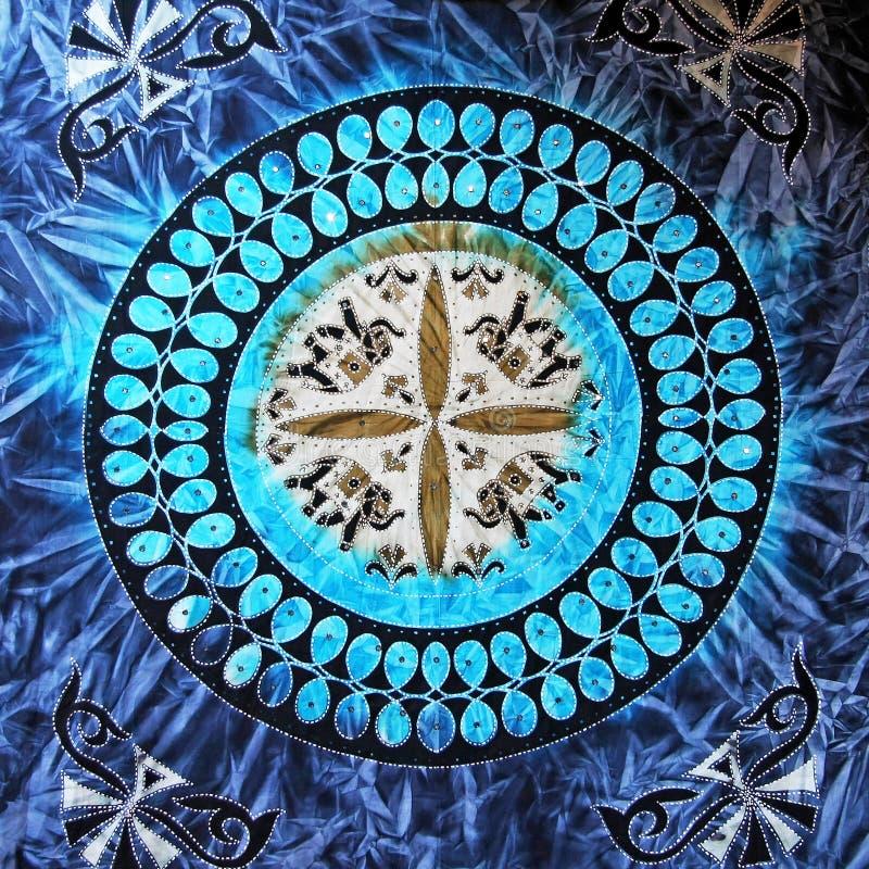 Blauwe cirkel stock afbeelding