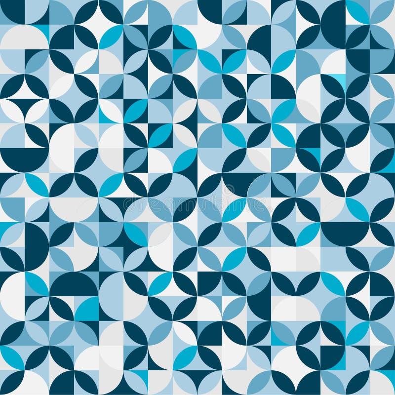 Blauwe cirkelachtergrond stock afbeelding