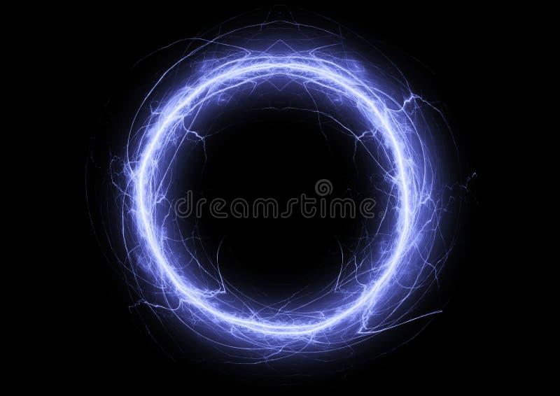 Blauwe cirkelbliksem vector illustratie